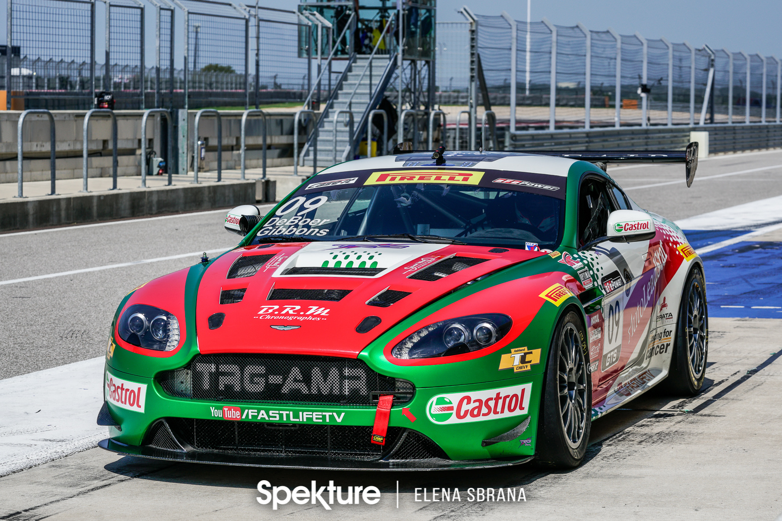 Earchphoto - The TRG-AMR Aston Martin of Derek De Boer and Sean Gibbons at COTA in 2017.