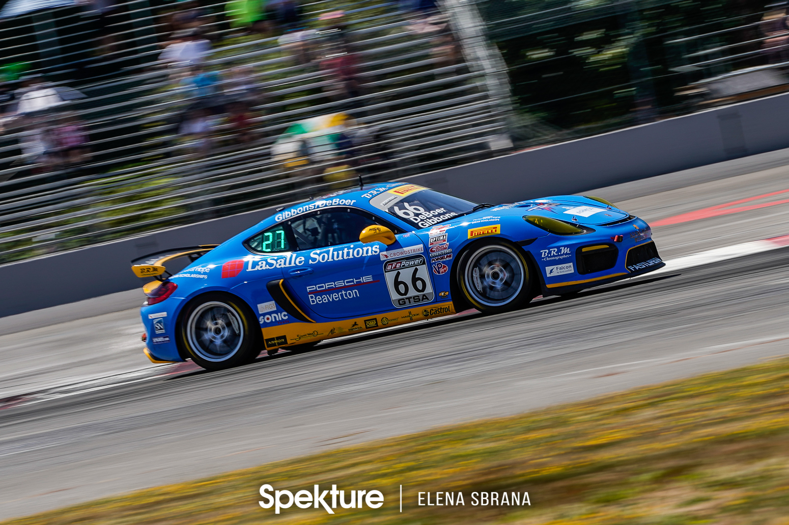 Earchphoto - The TRG Porsche No.66 during a race at PIR.