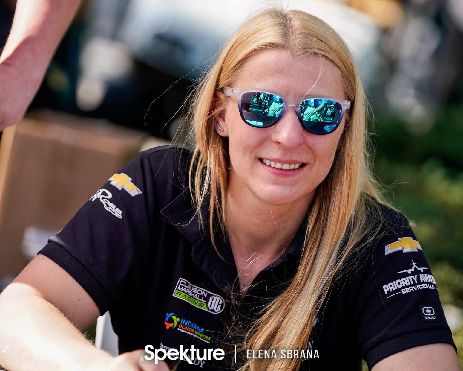 Earchphoto Sports - Pippa Mann signs autographs for the fans at IMS