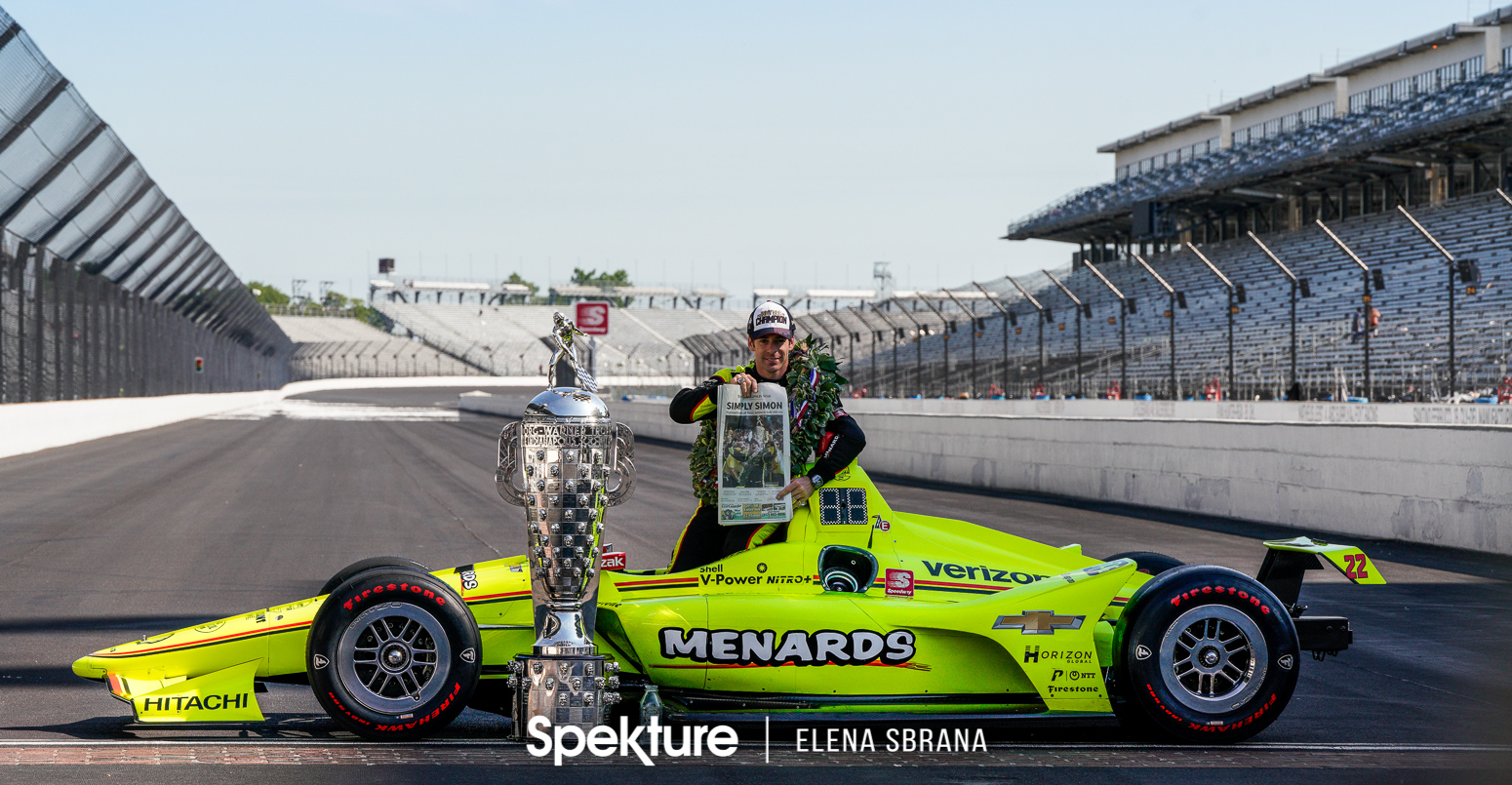 Earchphoto Sports - Simon Pagenaud on the yard of bricks